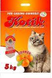 Kotik 5 кг комкующийся наполнитель с запахом апельсина для кошачьего туалета, фото 1