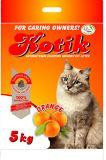 Kotik 5 кг комкующийся наполнитель с запахом апельсина для кошачьего туалета