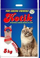 Kotik Bentonite Nature Котик Натурал комкующийся наполнитель для кошачьего туалета, 5 кг