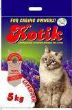 Kotik 5 кг Bentonite Lavender комкующийся наполнитель для кошачьего туалета с запахом лаванды