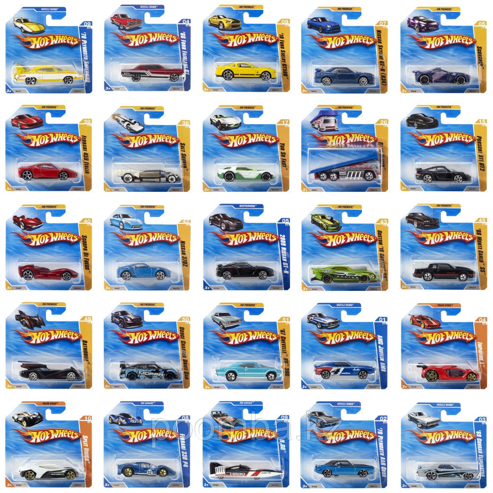 Машинки Хот Вилс (базовые модели)