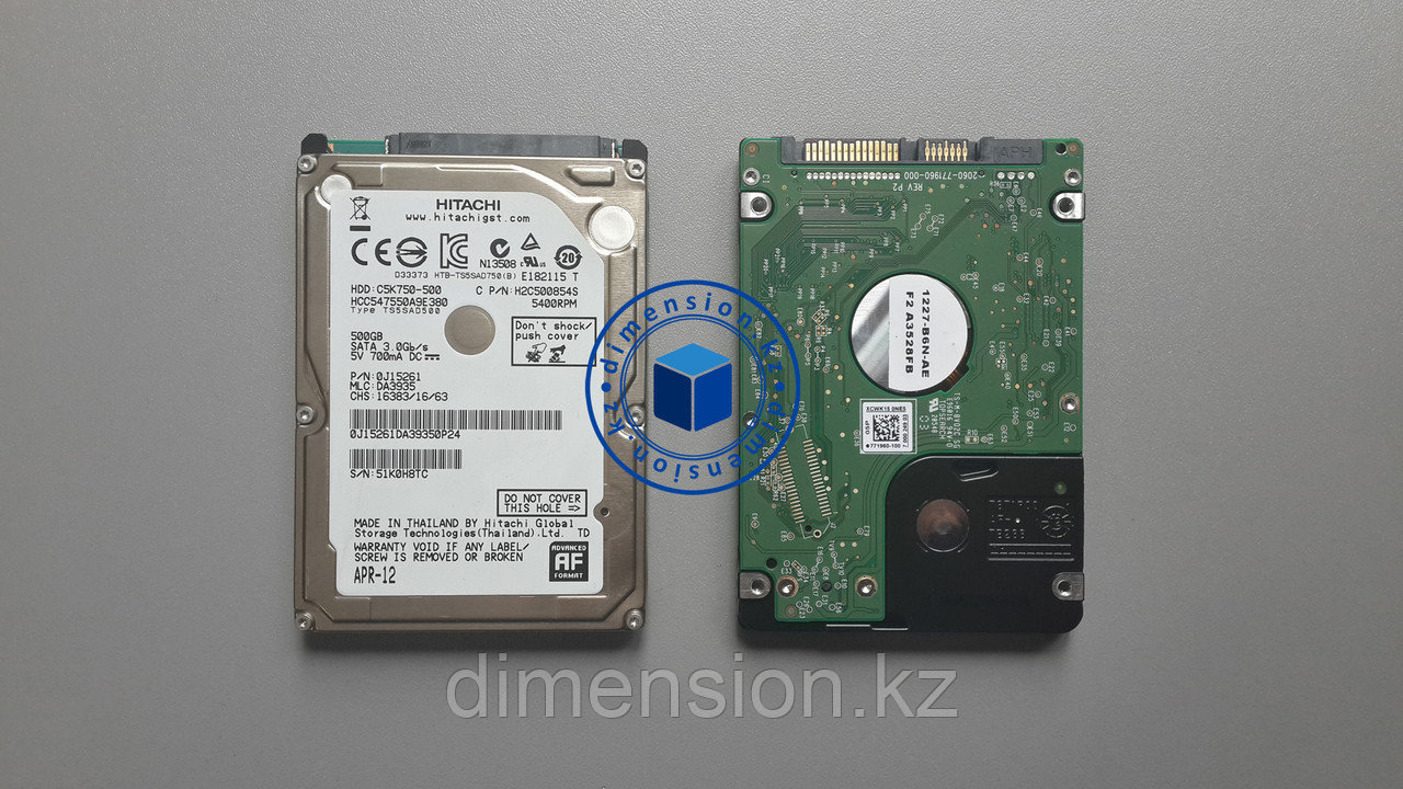 Жесткий диск для ноутбука (HDD 2,5) 500GB Hitachi, Toshiba, Seagate, Western Digital, SAMSUNG