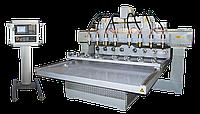 Многошпиндельный фрезерно-гравировальный станок с 8 поворотными устройствами размером 300*120мм
