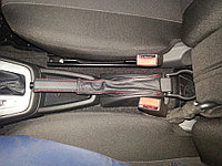 Чехол ручного тормоза (кожаный пыльник, красная нить) Лада Гранта, фото 1