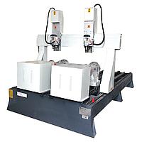 Камнеобрабатывающий фрезерно-гравировальный станок под балясины с ЧПУ и 2 шпинделями 180*250*30см, фото 1