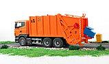 Мусоровоз Scania (цвет оранжевый) (подходит модуль со звуком и светом Bruder (Брудер)Артикул: 03-560, фото 6