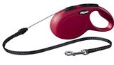 Flexi 022-702 Рулетка поводок NEW Classic Long S шнур, длина- 8м, для собак весом до 12 кг. Красный цвет