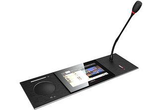 Televic uniCOS F/MM мультимедийный пульт делегата / председателя с сенсорным экраном (Plixus совместимый)