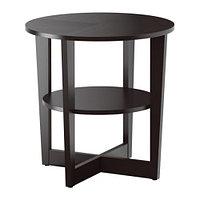 Придиванный столик ВЕЙМОН черно-коричневый ИКЕА, IKEA  , фото 1