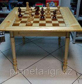 Стол-доска сувенирный+фигуры шахматные к сувенирному столу d=55-60мм, высота: 126-196мм