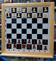 Шахматы настенные демонстрационные 810х810мм магнитные, фото 1