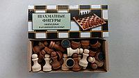 Фигуры шахматные обиходные лакированные диаметр 24мм, высота 44-70мм