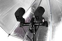 Постоянный свет - 2 октобокса 80 см на стойке с головкой на 4 лампы/160 Ватт, фото 3