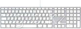 Keyboard with numeric keypad - Russian, Model A1243