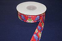 Репсовая лента с рисунком (Слоник) 2,5 см.