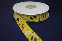 Репсовая лента с рисунком (Следики - звездочки) 2 см. - 25 ярдов (22,8 метра)