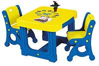 Доски, парты, столы, мелки, азбука.