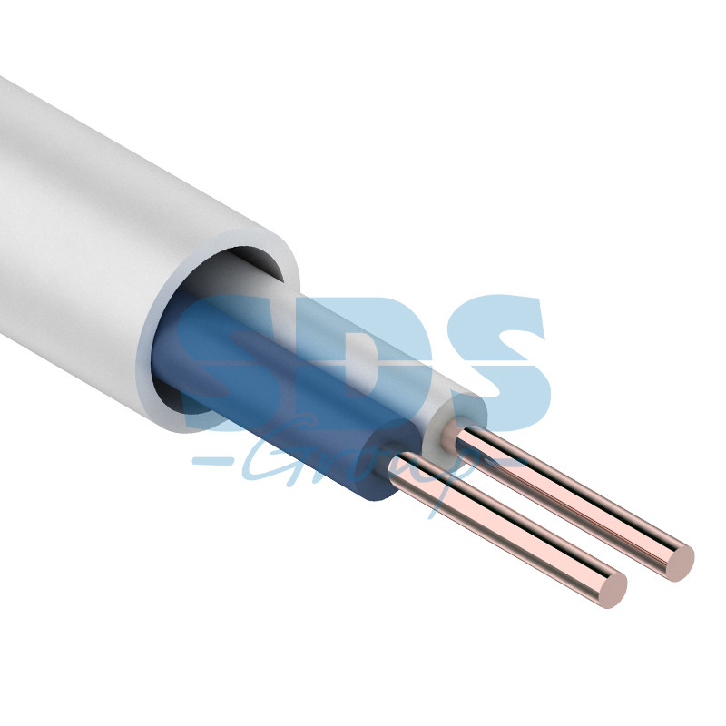 Кабель сигнальной проводки КСПВ 2х0.5 мм., 500м., белый