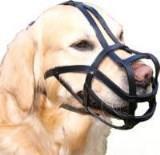 TRIXIE Намордник для собак (Сенбернар), кожа, XL,ремешок для морды/головы: 38см/31см,черный