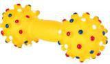 Trixie 3357 Игрушка винил, гантель,со звуком,  размер 15 см, различные цвета.
