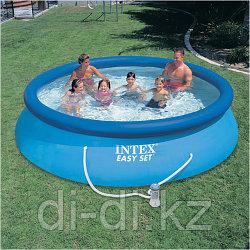 Надувной бассейн Intex Easy Set Pool. 366 х 76 см. с фильтром