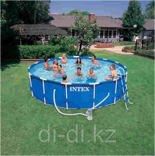 Каркасный сборный бассейн Intex Metal Frame Pool. 457х107 см.