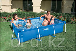 Каркасный сборный бассейн Intex Rectangular Frame Pool. 300х200х75см.