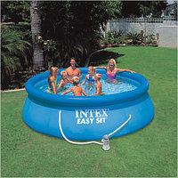 Надувной бассейн Intex Easy Set Pool. 366 х 91 см. с фильтром, фото 1