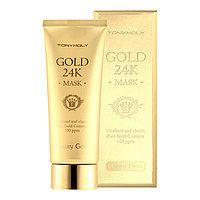 Маска для лица с содержанием 100ppm долей золота Tony Moly Luxury Jem gold 24K Mask