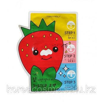 "Пластыри для носа против черных точек ""Homeless Strawberry Seeds 3-step Nose Pack"""