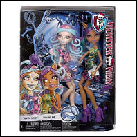 Куклы монстер хай Вайперин и Клаудин, Monster High Scare and Make-Up - Viperine Gorgon and Clawdeen Wolf