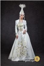 Казахское платье на проводы невесты