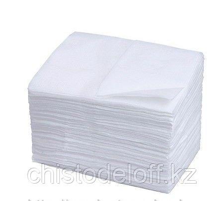 Салфетки 24*24, белые, 100 шт. в пачке однослойные