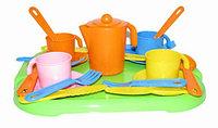 """Набор детской посуды """"Анюта"""" с подносом на 4 персоны 3889"""