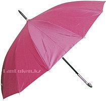Зонтик трость женский розовый полуавтомат