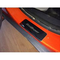 Накладки на пороги из нержавеющей стали  на FORD ECOSPORT/Форд Экоспорт 2015- , фото 1