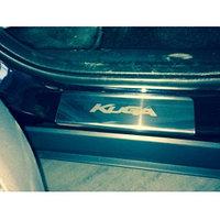 Накладки на пороги из нержавеющей стали  на Ford Kuga/Форд Куга 2013-, фото 1