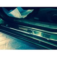 Накладки на пороги из нержавеющей стали  на Ford Mondeo/Форд Мондео 2015-, фото 1