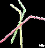 Трубочки для коктейля 8мм х 24см без гофры