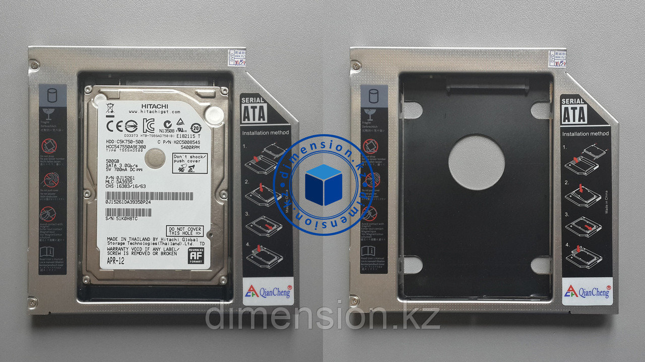 Optical drive Case for HDD 11мм