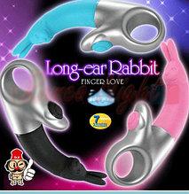 """Клиториальный вибратор и вибратор точки G """" Long-ear Rabbit( Кролик)"""" Finger Lover"""