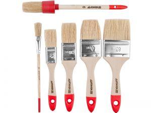 """Набор STAYER """"STANDARD"""" """"UNIVERSAL"""": Кисти, светлая натур щетина, деревянная ручка, 4шт: 25, 38, 50мм; плоская"""