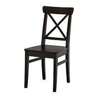 Стул ИНГОЛЬФ коричнево-чёрный ИКЕА, IKEA