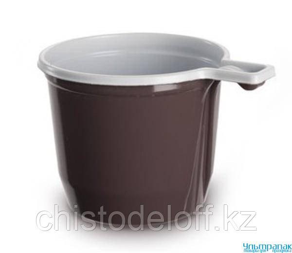 Чашка - кофейная 180 мл (бело-коричневая)
