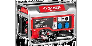 Генератор ЗУБР бензиновый, 4-х тактный, ручной и электрический пуск, 220/12В, 3000/3500Вт