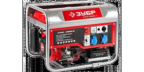 ЗЭСБ-2800-ЭГенератор ЗУБР бензиновый, 4-х тактный, ручной и электрический пуск, 2800/2500Вт, 220/12В