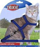 Trixie Шлейка для кошек и мелких собачек, нейлон 22-42см/10мм, поводок 1,25м