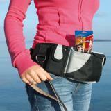 Trixie Сумка для лакомств на пояс Baggy Belt, ремень: 62–125 см, черный/серый