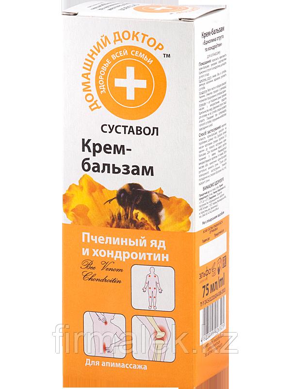 Домашний Доктор Крем-бальзам Пчелиный яд и Хондроитин для апимассажа. Суставол.