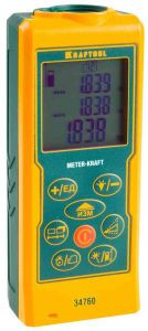 """Дальномер KRAFTOOL """"LASER-KRAFT"""" лазерный, дальность 5см - 70м, точность 1,5мм"""
